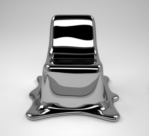 Aduatz' Lieblingsstück ist sein Melting Chair.