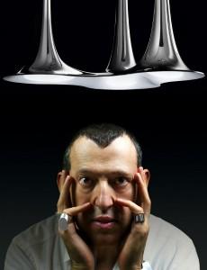 Nafir ist die erste von Karim Rashid für AxoLight kreierte Leuchtenkollektion. Foto: Loris Pignoletti