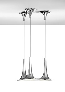Nafir als Dreiergruppe ist Lichtdesign im Triple-Pack. Foto: Axo Light