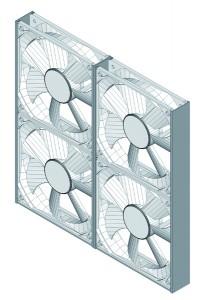"""""""Exhaust Air Power Plant"""". Design: Bernhard Zingler (A). Gewinner in der Kategorie Mobilität und öffentlicher Raum. Ausrangierte PC-Lüfter werden zu Abluftkraftwerken, die diese Luft in Energie verwandeln. Foto: Bernhard Zingler"""
