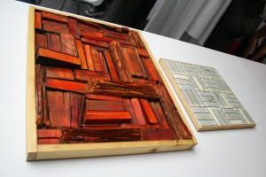 """""""Altstoff Buch als Werkstoff"""" von Josef Michael Pfeiffer, Arge Kunst vom Rand, direkt vor Ort im designforum Wien. Foto: wohndesigners"""