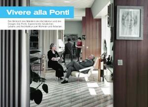 """Die Ausstellung """"Vivere alla Ponti"""" macht Station im Italienischen Kulturinstitut Wien. Foto: Cover des Flyers zur Ausstellung """"Vivere alla Ponti"""""""