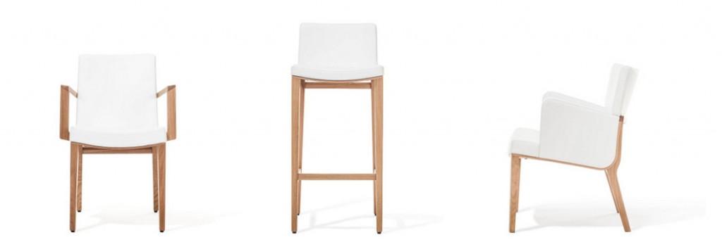 Ob als Armlehnstuhl, Barhocker oder Loungesessel – MORITZ begeistert mit dem Design von Kai Stania und Perfektion à la TON. Foto: TON