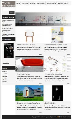 "Immer ""up to date"" mit der WOHNDESIGNERS-Website. Foto: wohndesigners"