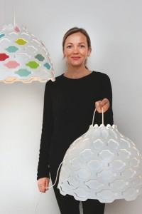 """Die dänische Licht- und Möbeldesignerin Louise Campbell inszeniert """"Das Haus – Interiors on Stage"""" bei der imm cologne 2014. Foto: Koelnmesse/Louise Campbell"""