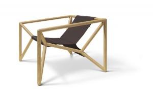 Auf der blickfang und im Online-Shop mit dabei: Der neue  M3-Loungechair von Thomas Feichtner und NWW. Foto: Studio Thomas Feichtner/Neue Wiener Werkstätte