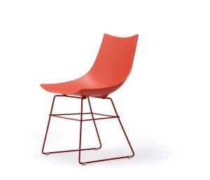 LUC Stuhl: Schlichte Sitzschale, einzigartiger  Look. Foto: Rossin