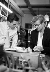 """Teamwork für die """"Saliera"""": Jean-Paul Vaugoin von Jarosinski & Vaugoin und Thomas Feichtner. Foto: Studio Thomas Feichtner."""