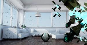 """Maximale, """"magische"""" Reinigung: Das automatisiertes Reinigungssystem """"Mab"""" mit seinen fliegenden Mini-Robotern. Foto: Electrolux"""