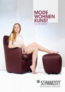 """Schwarzott lädt zur Sonderausstellung """"MODE.WOHNEN.KUNST"""" am 12. Oktober im Einrichtungshaus in Baden. Foto: Schwarzott"""