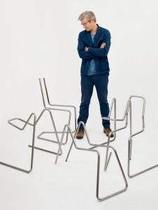 Nicht eines, sondern ein ganzes Bündel an verschiedensten Sitzobjekten kreierte Thomas Feichtner, die in nur wenigen Sekunden Realität werden. Foto: Studio Thomas Feichtner