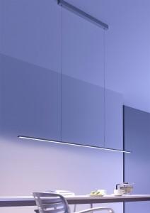 Die LED-Pendelleuchte von GERA Leuchten basiert auf dem GERA Lichtsystems 6 und überzeugt mit minimalistischem Design und großer Wirkung. Foto: GERA Leuchten.