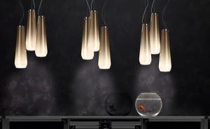 """""""Glassdrop"""" von Diesel with Foscarini: Eine Hängeleuchte mit vielen Design-Facetten. Foto: Diesel with Foscarini"""