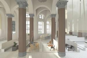 Vasku&Klug rücken das aktuelle österreichische Design in respektvollem Zusammenspiel mit dem sakralen Bau in Szene. Foto: Vasku&Klug/WKO