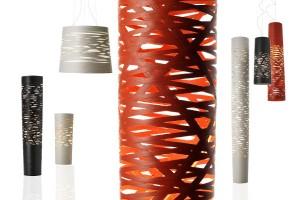 Die Leuchte Tress, kreiert von Marc Sadler, begeistert auch in der LED-Edition mit ihren faszinierenden Licht- und Schatteneffekten. Foto: Foscarini