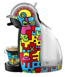 Die NESCAFÉ® Dolce Gusto Limited Edition Billy The Artist vereint Kunst, Kaffee und Genuss. Foto: NESCAFÉ Dolce Gusto