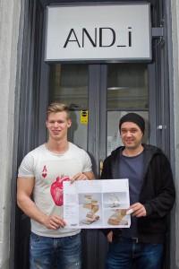 Philipp Dostal gewann die Ausschreibung, sein Entwurf wird nun als Siegertrophäe und mithilfe des bekannten Designers Andreas Eberharter alias And_i realisiert. Foto: © Harald Klemm