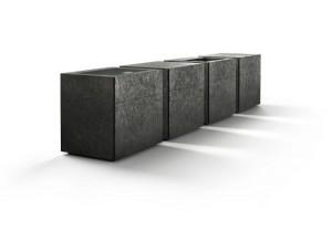 """Designt von Martin Steininger und Alberto Minotti, besteht """"rock"""" aus vier Kuben. Hinter den 6mm dünnen Steinplatten verbirgt sich modernste Funktionalität. Foto: steininger.designers GmbH"""