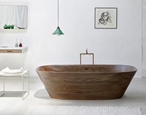 """""""Shell"""" ist ein stylischer Spa- und Ruhepol aus hauchdünnem Massivholz. Foto: Markus Bstieler"""