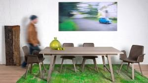 """KFF trumpfte beim Salone kräftig auf und präsentierte u.a. die """"Grey Maverick Selection"""", eine Stuhl-Tisch-Edition in facettenreichem Grau. Foto: KFF"""