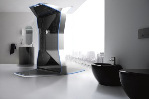 """Die Dusch-Sprossenwand-Kombi """"ACTUS"""" ist Wellnessoase, Personal Trainer und Mini-Fitnesscenter in einem. Foto: FH Joanneum"""