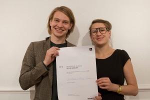 Die Gewinner des Nespresso Design Scholarship 2014: Ania Rosinke und Maciej Chmara alias chmara.rosinke. Foto: © Nespresso
