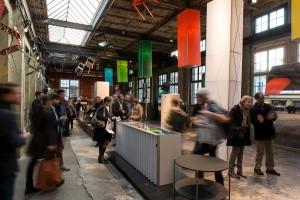 Am Designers' Saturday ging's rund – u.a. im City Center bei Embru, Lehni, Röthlisberger, Seleform, Thut, Tossa. Design: Benjamin Thut. Photo: Willy Jost / Jürg Stauffer, © Designers' Saturday 2014 (www.designerssaturday.ch)