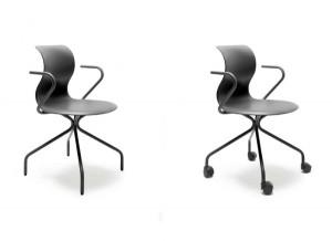 Für die Stühle gibt's ein neues X-Gestell, mit und ohne Rollen. © Flötotto
