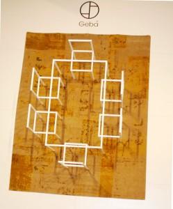 Die Installation zeigt den Geba-Teppich in einer Wohnsituation. © WOHNDESIGNERS