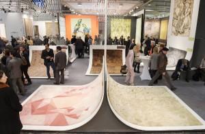 Auf der DOMOTEX wurden die Teppich-Kreationen speziell präsentiert und prämiert. © Deutsche Messe