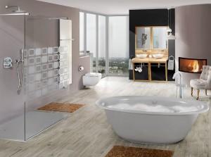 GROHE SPA® steht für Wellness, Design und Luxus. Zum Relaxen lädt u.a. GROHE Grandera™. © Grohe