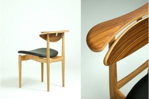 """Bequem """"verkehrt"""" sitzen – dank  horizontaler Abdeckung an der Hinterseite der Lehne. © Onecollection"""