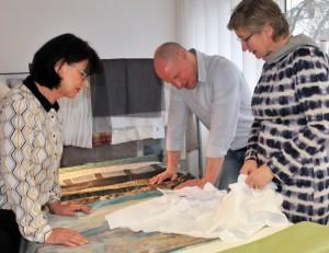 Die Trevira Fabric Creativity Competition Nr. 3 ist geschlagen. Die Expertenjury -  Natalija Zimmermann, Lars Leppin und Prof. Bettina Göttke-Krogmann - wählte die winner. © Trevira GmbH
