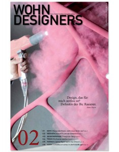 WOHNDESIGNERS – Form | Farbe | Funktion – Ausgabe 2/2013. Cover. © WOHNDESIGNERS