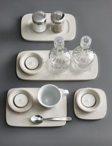 """Lässig, leicht, stark: die Untersetzer-Familie """"Tealight"""". © Cosentino Group"""