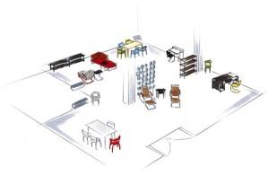 Der Thonet Pop-up-Store im Wiener stilwerk zeigt inspirierende Living-Ideen. © Thonet GmbH
