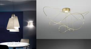 """Axo Light stellt bei der Euroluce die Leuchtenkollektionen """"Melting Pot"""", entworfen von Sandro Santantonio, und """"Hoops"""", kreiert von Giovanni Barbato, vor. © Axo Light"""