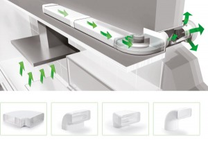 Ausgezeichnet mit dem German Design Award 2015: Das Compair flow Luftkanalsystem: © Naber GmbH