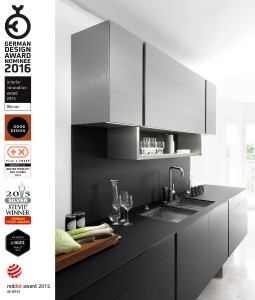 Poggenpohl wurde für die Küchenarchitektur P`7350 Design by Porsche Design Studio für den German Design Award nominiert. © Poggenpohl