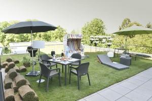 """Die Outdoor-Area ist der """"Hotspot"""", der Sommer und die Trends sind da. © Koelnmesse"""