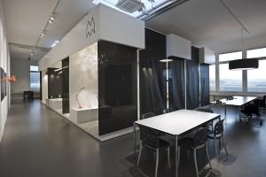 Büro und Ausstellungsraum, ist der neue Ausstellungsraum eine besonderer Lighting-Hotspot. © Modular Lighting Instruments