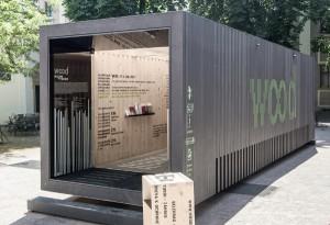 Eintreten – Holz erleben: Die WOODBOX kommt nach Wien. © Simon Bauer