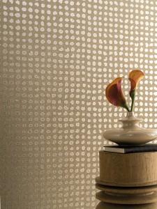 Tapeten im Tupfen-Design. © Marburger Tapetenfabrik