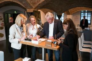 Nomen est omen beim Manufakturen@Tag des Handwerks. Mit dabei: Aussteller Franz-Josef Schulte, der schon beim 1. Aktionstag in Berlin begeisterte. © Schulte Design