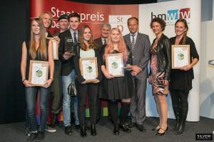 """Die Nominierten und Gewinner des """"Pro Carton PROPAK Austria Design Award 2015"""". © Silveri für bmwfw"""