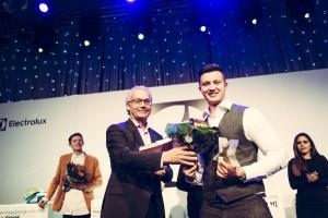 Bei der Preisverleihungsgala in Helsinki wurde Martin als Gewinner gekürt. © Electrolux
