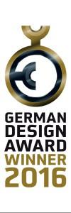 German Design Award 2016 - Winner. Logo. © German Design Council