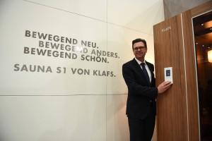 Vorgestellt: Auf der Grazer Herbstmesse wurde die S1 von KLAFS-GF Jürgen Klingenschmid erstmals präsentiert. © ofp kommunikation