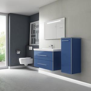 Die Möbel der Kollektion Avento punkten in vier Trendfarben – u.a. in ausdrucksstarkem Crystal Blue. © Villeroy & Boch