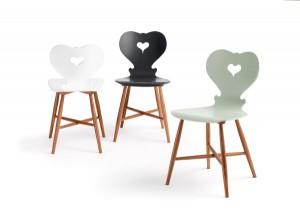 """Charmant: Der Stuhl """"Trix"""", designt von Sabine Bischof und gefertigt von schmidinger möbelbau. © schmidinger möbelbau/ Fotograf: Adolf Bereuter"""